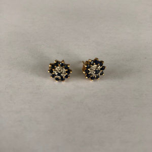 Sapphire Post Earrings